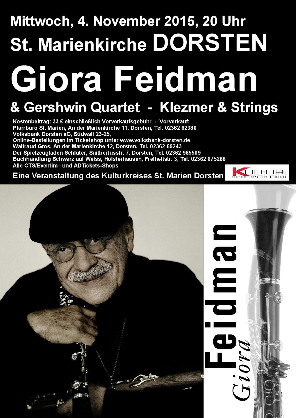 Plakat A 4 Feidman Dorsten