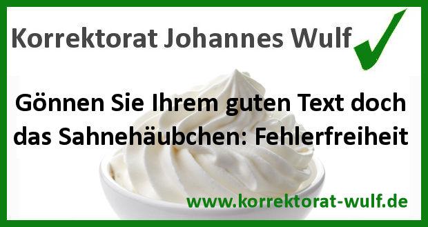 Korrektorat Johannes Wulf